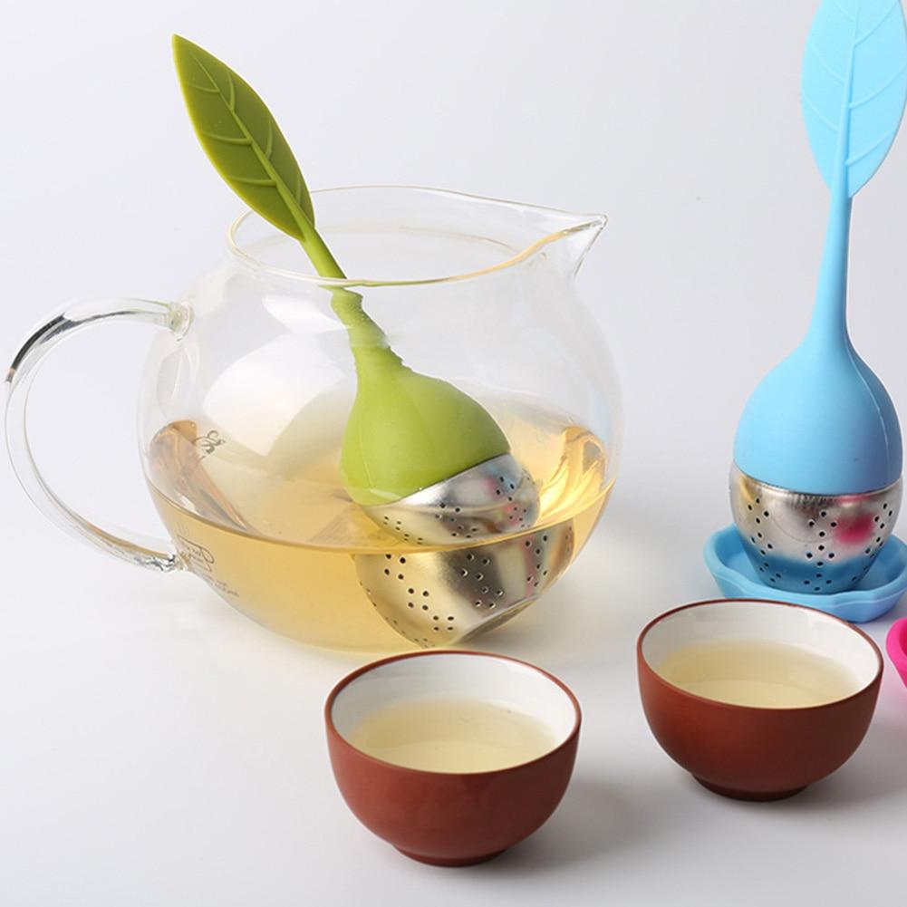 1PCS Kitchen Supplies Tea Strainer Non-toxic Shape Silicone Tea Infuser Tea Bag Teapot Accessory kitchen accessories Tea Infuser