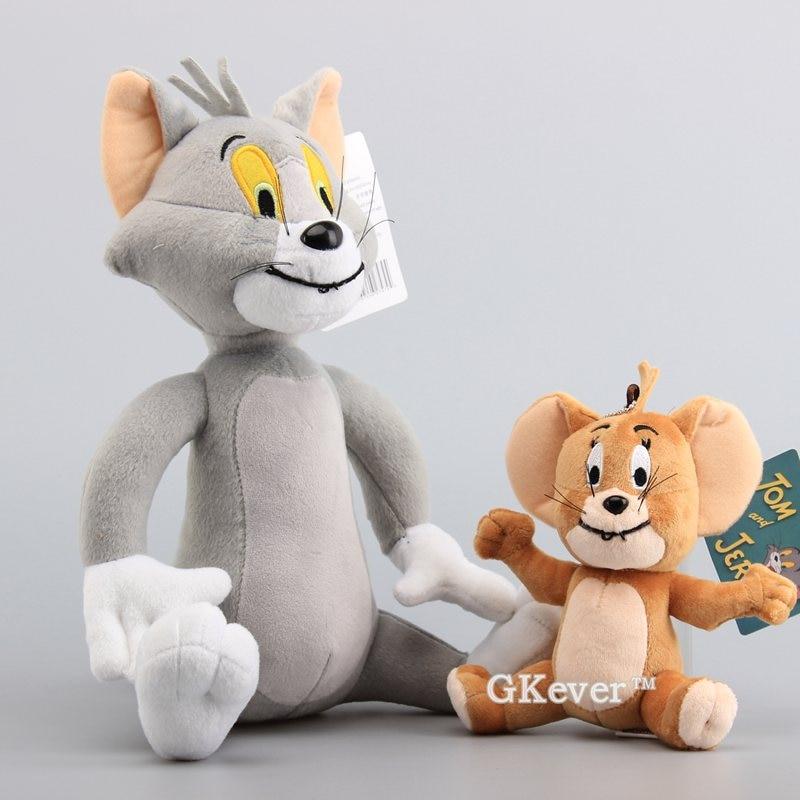 2 шт./компл. мягкие животные игрушки куклы забавный кот Том Джерри мышка Классическая плюшевая игрушка куклы 15-30 см подарок