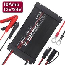 5 Stadia 10A Puls Reparatie Auto Batterij Oplader Automatische Smart Nat Lood-zuur Batterij Opladen Auto 110 V 220 V 12 V 24 V