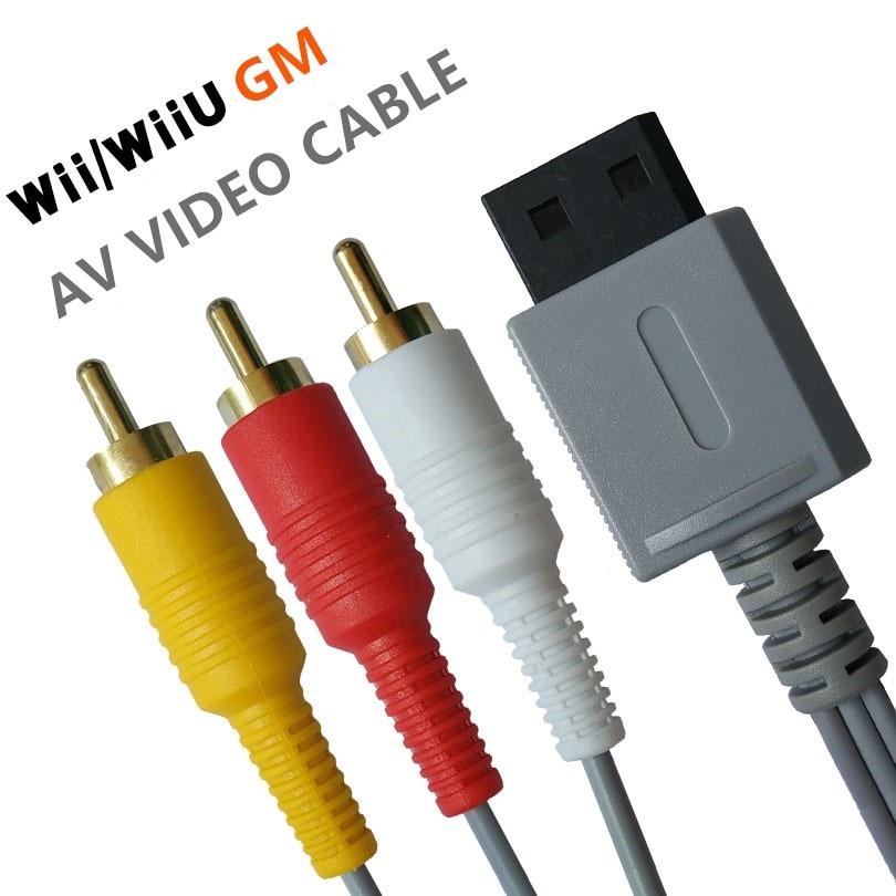 1,8 м Аудио Видео AV кабель игра композитный 3 RCA видео позолоченный кабель провод основной 480p для nintendo Wii консоль WiiU L3FE