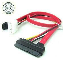 GuSou SATA Data Power Extension 22P 7+15Pin vers 4-Pin IDE Molex Cable 50cm