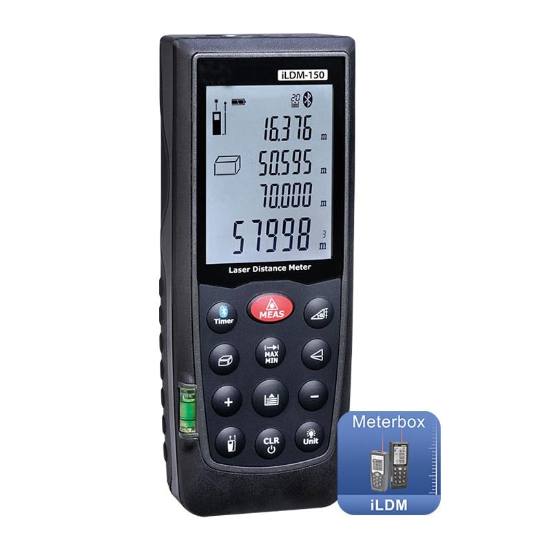 Medidor de distancia láser portátil, Bluetooth, a prueba de agua, medidor de 0,1-70m de área de volumen para iPod touch iPhone iPad Android phone