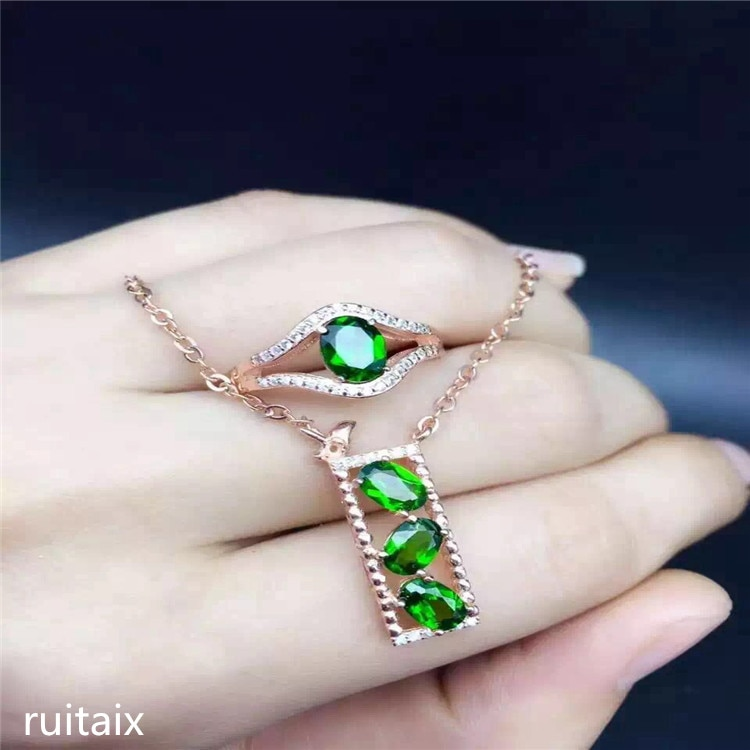 KJJEAXCMY joyas de boutique 925 incrustaciones de plata pura piedra transparente natural señora 2 juegos de flores mariposa cuadrado geométrico Europa a