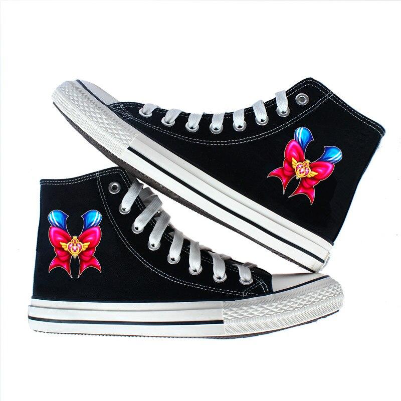 Japón anime Sailor Moon zapatos de lona Sakura Cardcaptor cosplay zapatos de lona Lolita adolescentes estudiantes deportivas de Deporte Zapatos