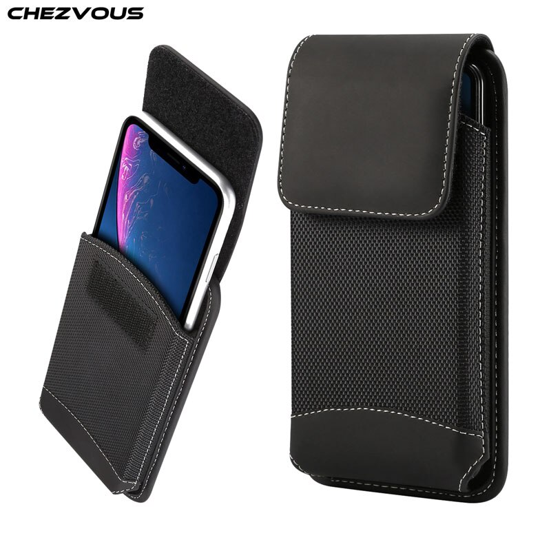 Funda de cinturón universal CHEZVOUS de 4,7-6,5 pulgadas para iPhone X 7 8 6 plus xr xs max, funda para Samsung s9 S8