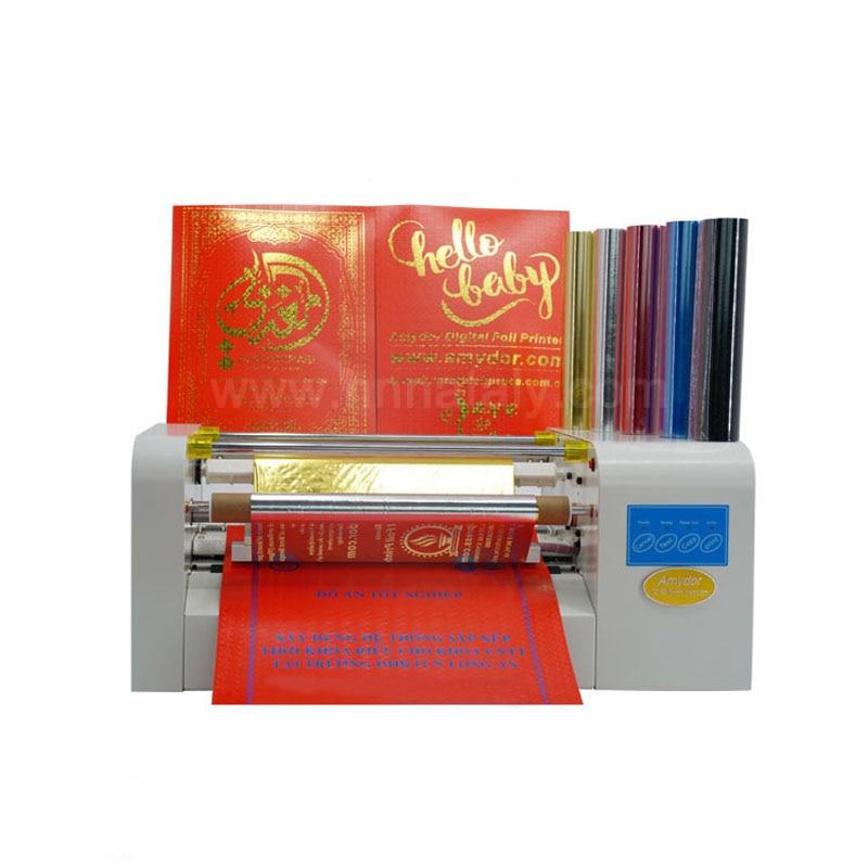 Дешевые цифровые автоматические горячей фольги штамповки бумаги поздравительная открытка принтер машина
