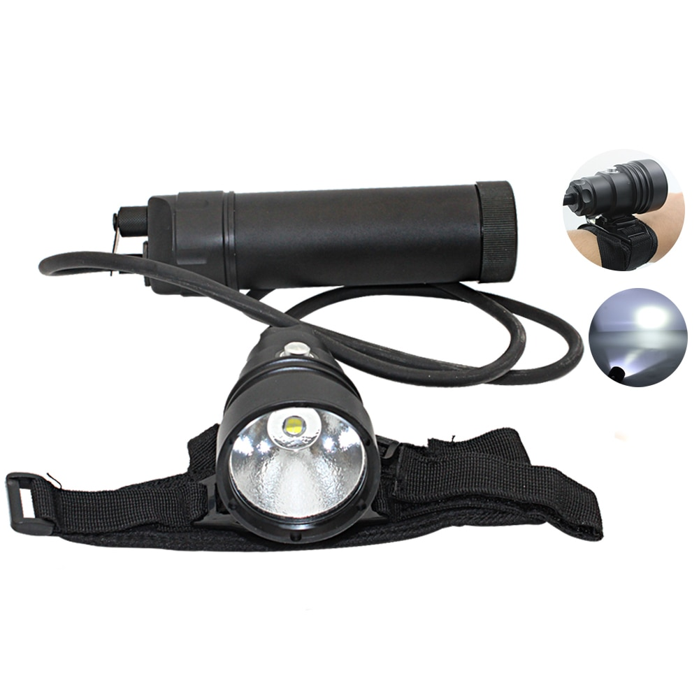 Uranusfire XHP70 XHP70.2 LED Diving flashlight Torch Lamp light Lantern powerful underwater scuba Split Type flashlight enlarge