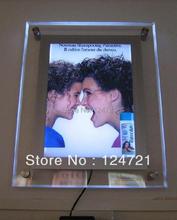 Wall mounted acrylic frame,Crystal led box,Advertising light box display