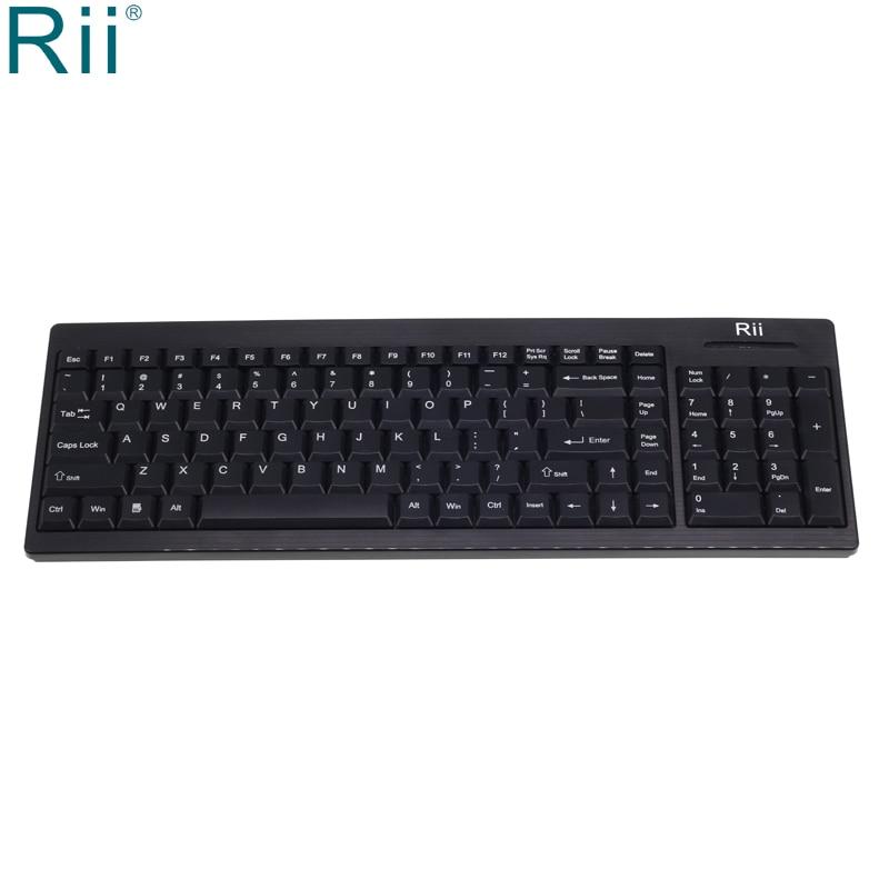 Rii RK901-لوحة مفاتيح ألعاب لاسلكية ، 2.4 جيجاهرتز ، لأجهزة الكمبيوتر المحمول والكمبيوتر الشخصي