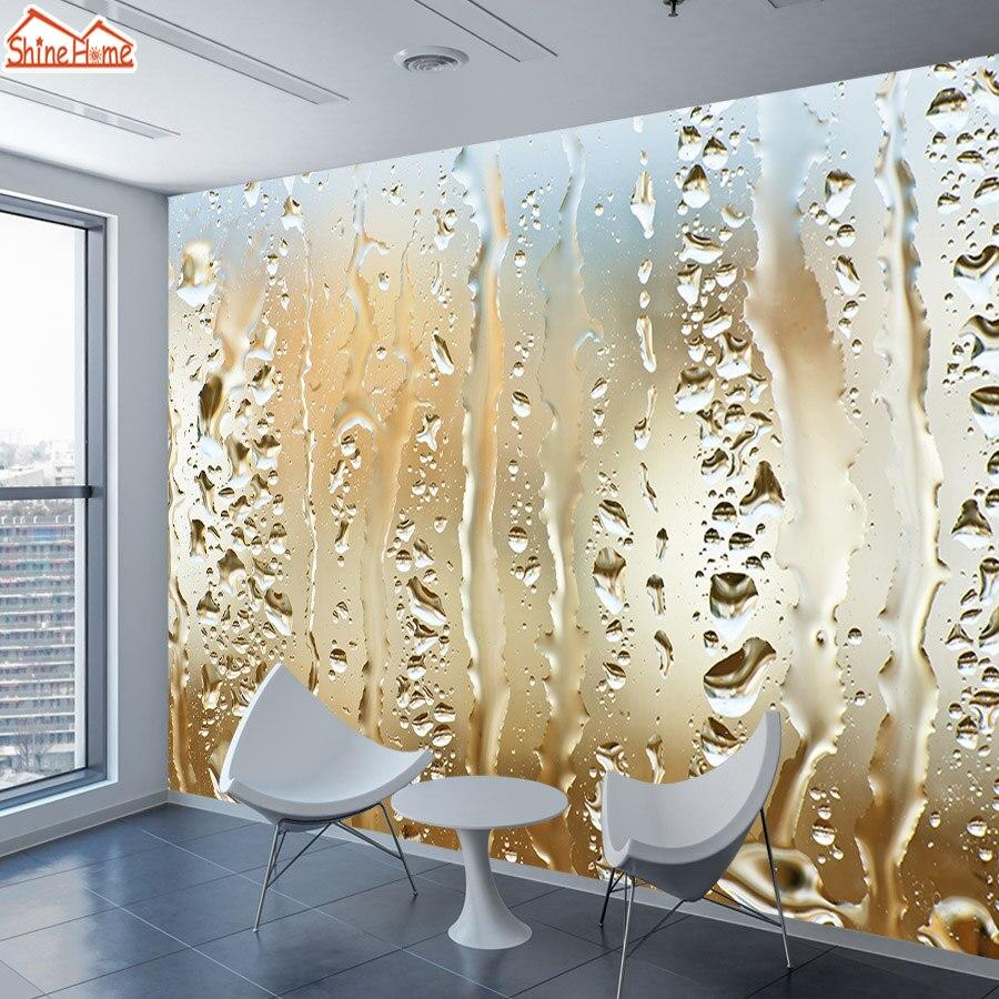 Papel tapiz 8d de seda, papel tapiz Mural 3d para sala de estar, papel de pared de contacto para niños, papel tapiz para decoración del hogar, pegatinas, murales, gotas de agua