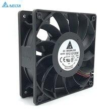 Оригинальный Для delta TFC1212DE, 12 см, 12038, 12 В, 3.9A, 252CFM, усилитель, PWM вентилятор, для Биткоин, Майнер, супер охлаждение
