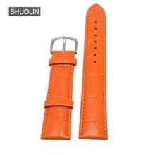 Ture cuir bracelets de montre bracelets de montre 12mm 14mm 16mm 20mm 22mm 2020 hebilla métal bambou motif bande 18MM horloge brassard J025