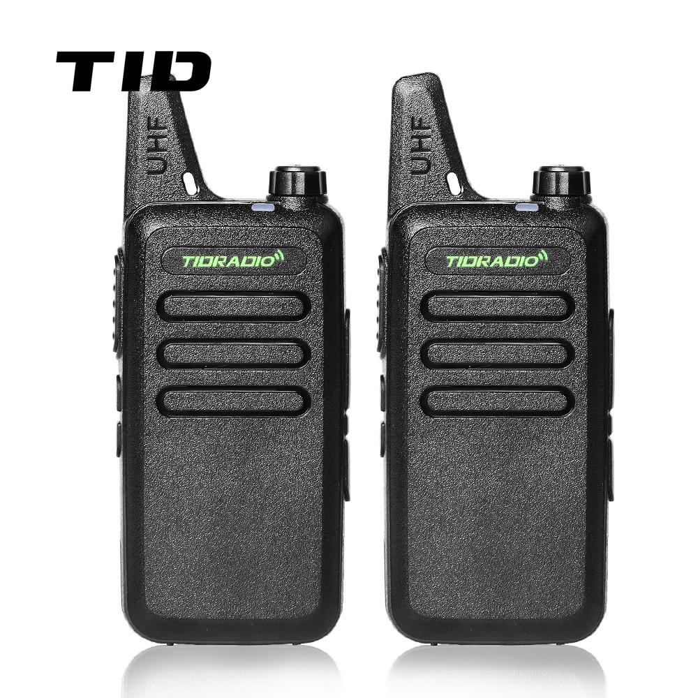 Мини Walkie Talkie TID Радио TD-M8 Двухстороннее Радио UHF 400-470 МГц Коммуникатор CB Ham Радио Трансивер