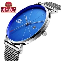 hot selling olmeca watch fashion business relogio masculino complete calendar wrist watch 3atm waterproof mens watches alloy