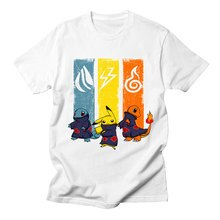 Camiseta Casual de Pokemon Go Naruto para mujer, divertida camiseta de Pikachu de alta calidad informal Harajuku de dibujos animados Kawaii