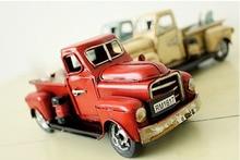 Antique Classical Car Model Retro Handmade Metal Crafts Desktop Figurines Birthday Gift Home Decor Ornaments Art Collections