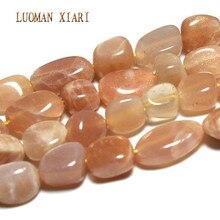 LUOMAN XIARI perles irrégulières pierre de soleil naturelle pour la fabrication de bijoux bricolage Bracelet collier matériel environ 7-11mm brin 15