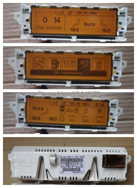 White Color Shell Monitor display USB Bluetooth Air-Conditioning Yellow 12 pin Screen 5 Menu For Peugeot 407 408 307