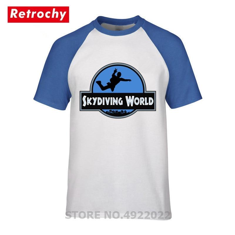 Camiseta de paracaidismo de diseño jurásico, camiseta de moda para hombres, camiseta del mundo de paracaidismo divertido, camiseta de regalo para hombre, ropa de marca de moda de verano