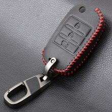Leder Auto Schlüssel Fall Abdeckung Schlüssel Ring Shell Für KIA KX5 KX7 Rio 3 Sportage QL Ceed Sorento Cerato K3 k4 K5 KX KREUZ CARENS Seele