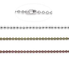 10 pièces 72 cm argent plaqué 1.5mm diamètre mince Long collier chaînes en vrac petite chaîne à billes pour la fabrication de bijoux à bricoler soi-même résultats
