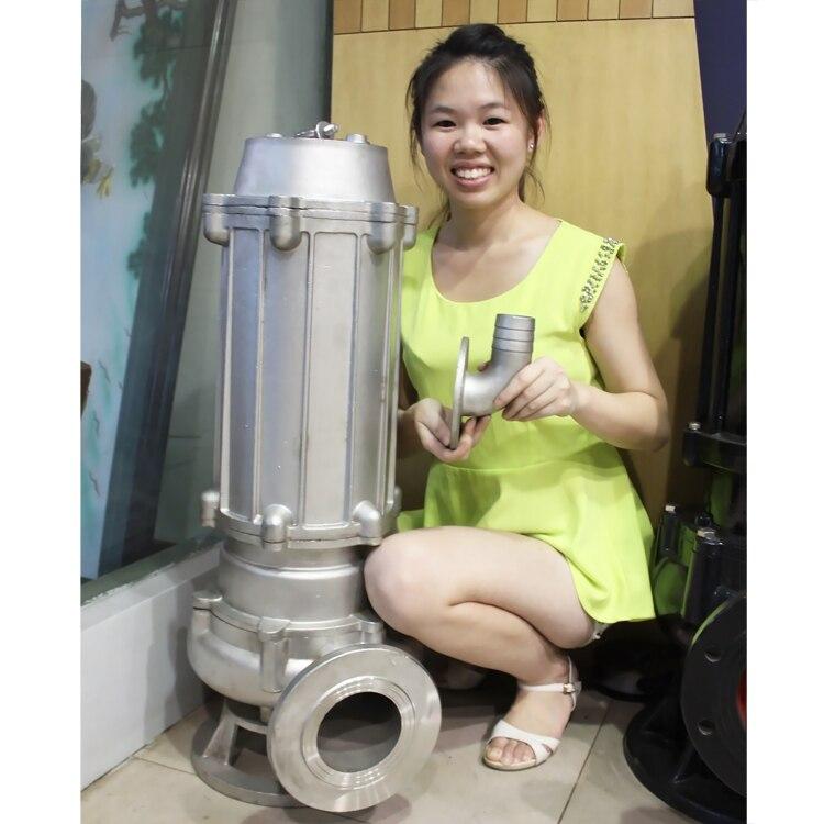 Bombas de aguas residuales inoxidables de fabricación china con impulsor de acero inoxidable