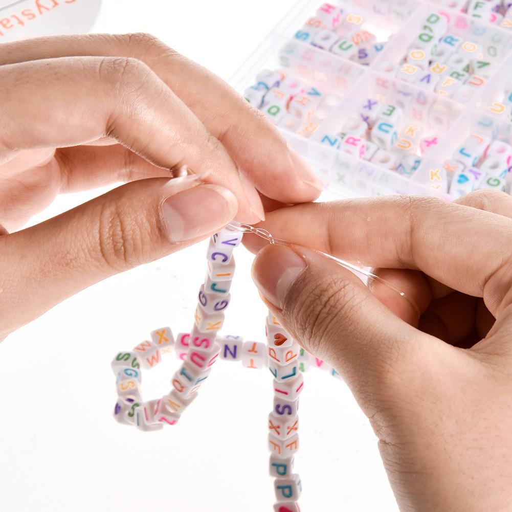 1200PCS DIY Contas Carta Rodada Bead A-Z Coração E Letra Do Alfabeto de Contas Para Fazer Jóias Pulseira Colares Correntes Chaves jóias
