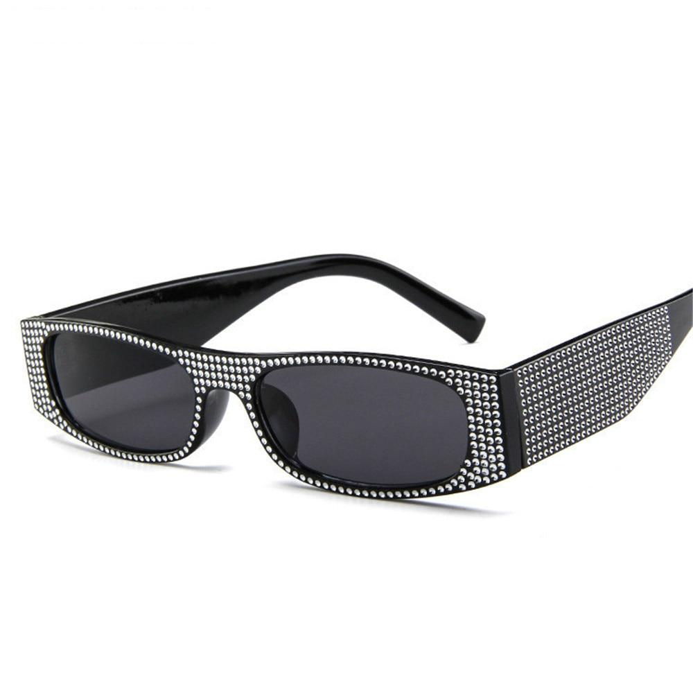 Small square fashion sunglasses Retro evening glasses cross-border hot sunglasses women brand designer blue sea UV400