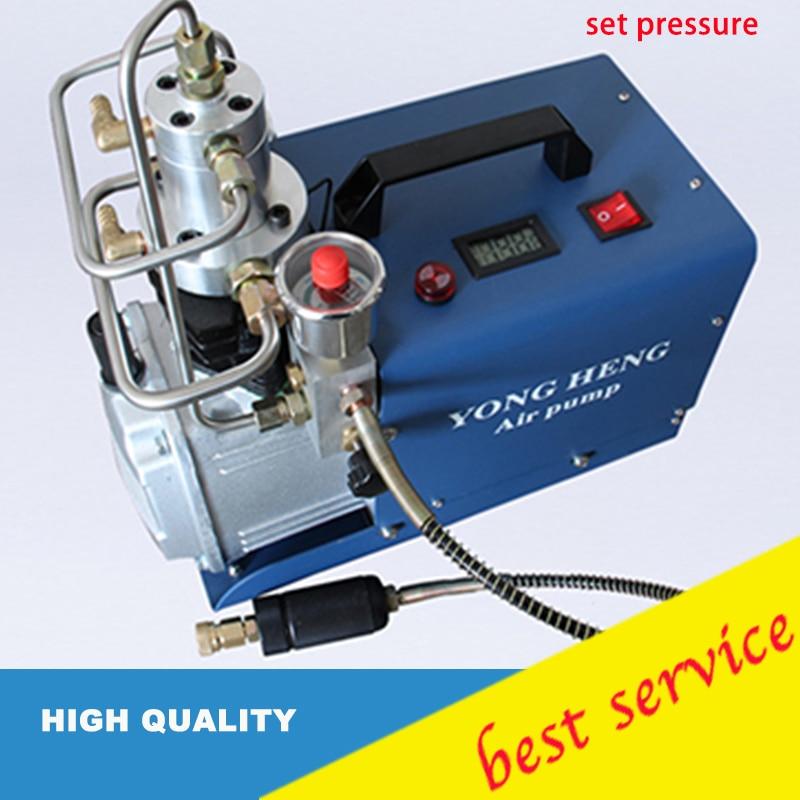 Yongheng 300bar 30mpa 4500psi alta pressão da bomba de ar elétrica compressor ar para pneumática carabina scuba rifle pcp inflator