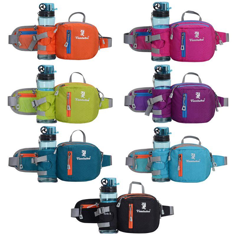 Nylon cinturón correr ciclismo de cintura riñonera Paquete de bolsa de teléfono bolsa de deporte con botella de agua titular organizador de