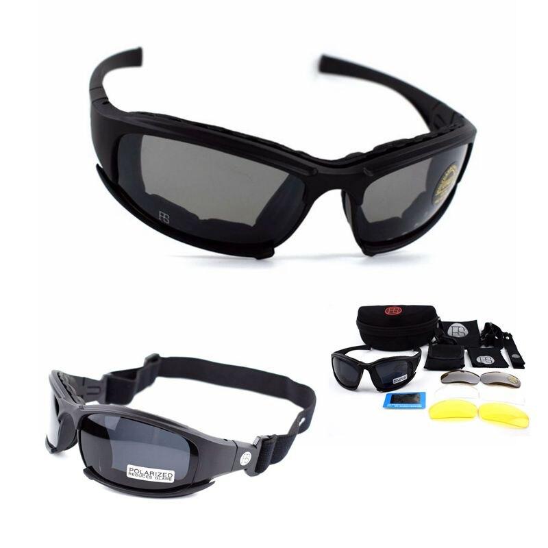 X7 Military Brille 4 Objektiv Armee Sonnenbrille Taktische Gläser Jagd Schießen Airsoft Radfahren Motorrad Brille
