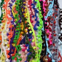 5 Yards Pom Pom garniture balle 10mm pompon couture accessoires dentelle garniture ruban tissu artisanat vêtements accessoires