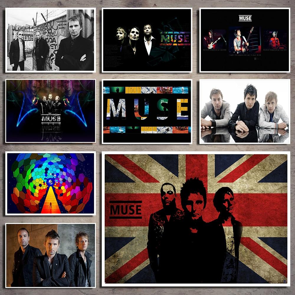 Muse Music Art retro rock music nostalgia White kraft paper decorative painting posters wall sticker  42*30CM
