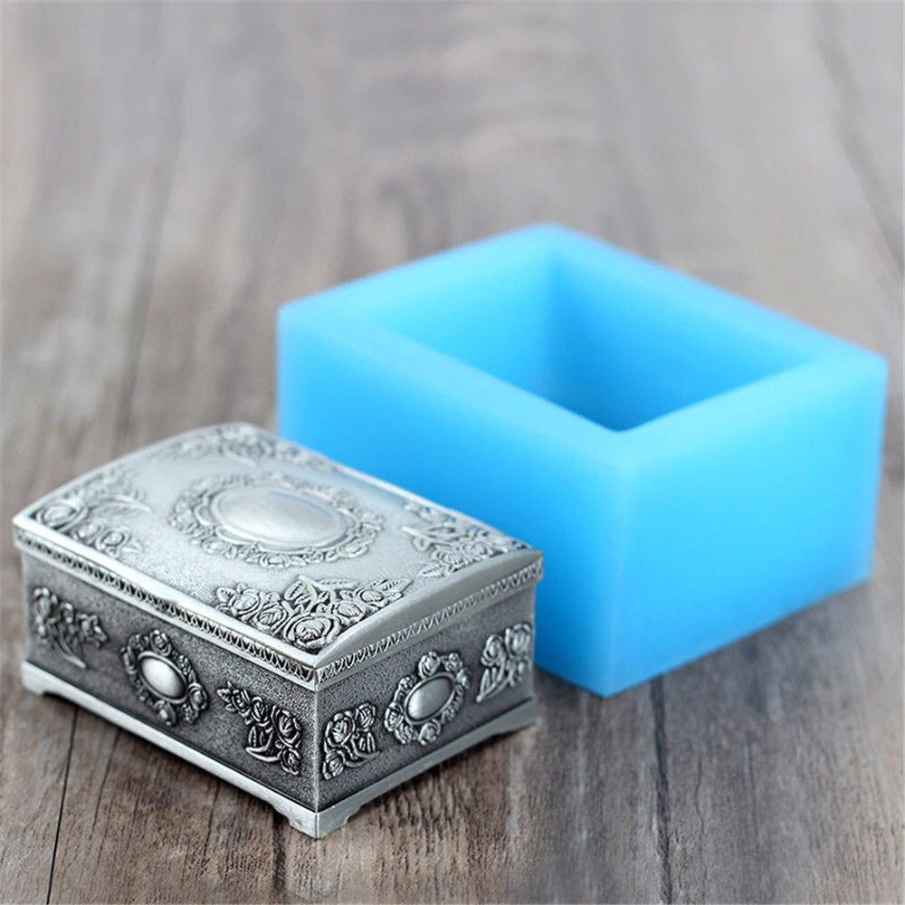 Grainrain, caja de joyería en forma de barra de jabón, molde DIY artesanal hecho a mano, vela, Molde de resina