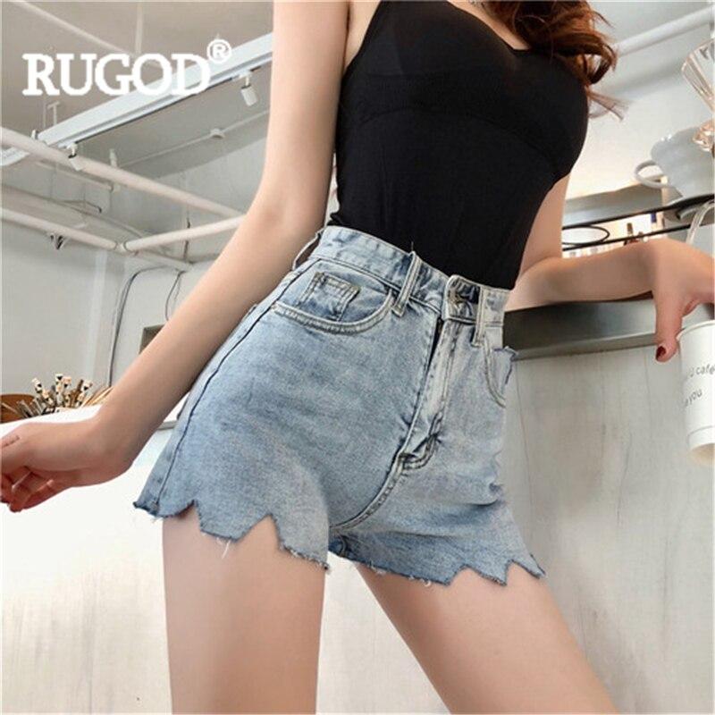 RUGOD Denim shortsшорты женскиеSolid 2019 New Summer women's shorts  Fashion Female Sexy