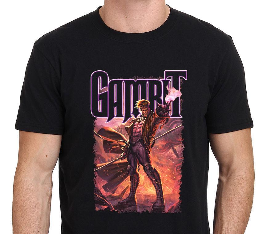 New T Shirts GAMBIT X Mens Game Fashion Summer Printed T-Shirt 2018 Hot Sale New MenS T Shirt Game Shirt Top Tee PLUS SIZE