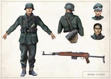 Uniforme de soldats allemands   Affiche rétro Vintage WWII, peinture sur toile, autocollants muraux en papier bricolage, cadeau de décoration de maison