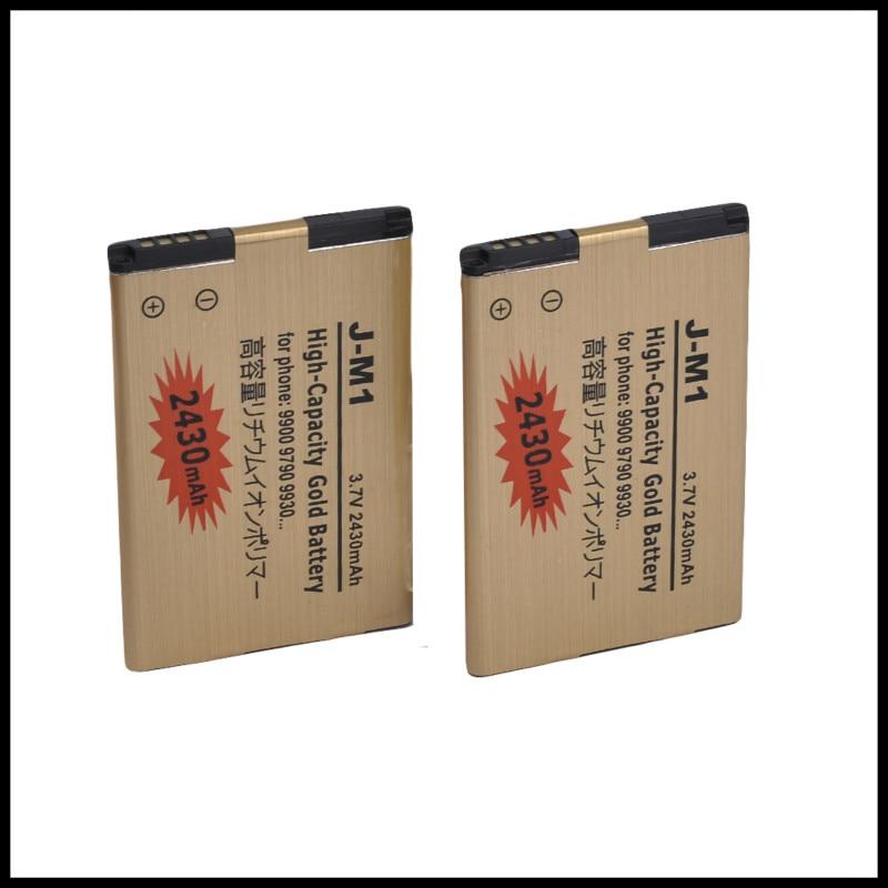 2 JM1 pçs/lote bateria de Alta Capacidade de Ouro Bateria Para Blackberry Bold Touch 9380 9850 9860 9790 9930 9900 bateria