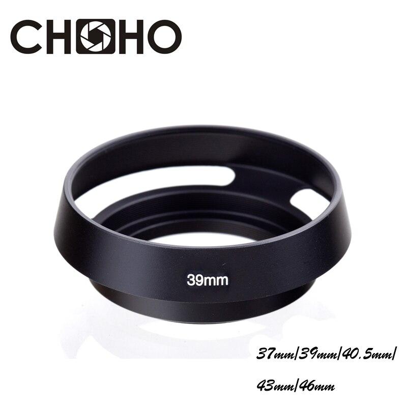 Металлическая бленда для объектива камеры 37 мм 39 мм 40,5 мм 43 мм 46 мм с резьбой для Canon Nikon Sony Leica Olympus Pentax