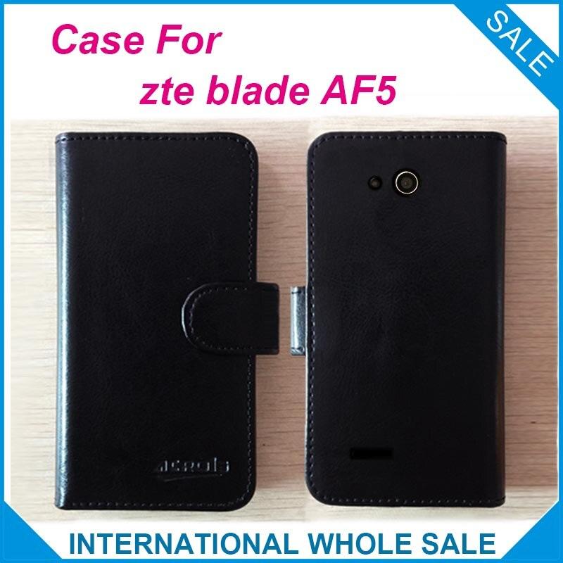 6 צבעים עבור zte blade af5 case במפעל מחיר גבוהה איכות מעקב בלעדיות עור flip כיסוי עבור zte blade af5 מספר