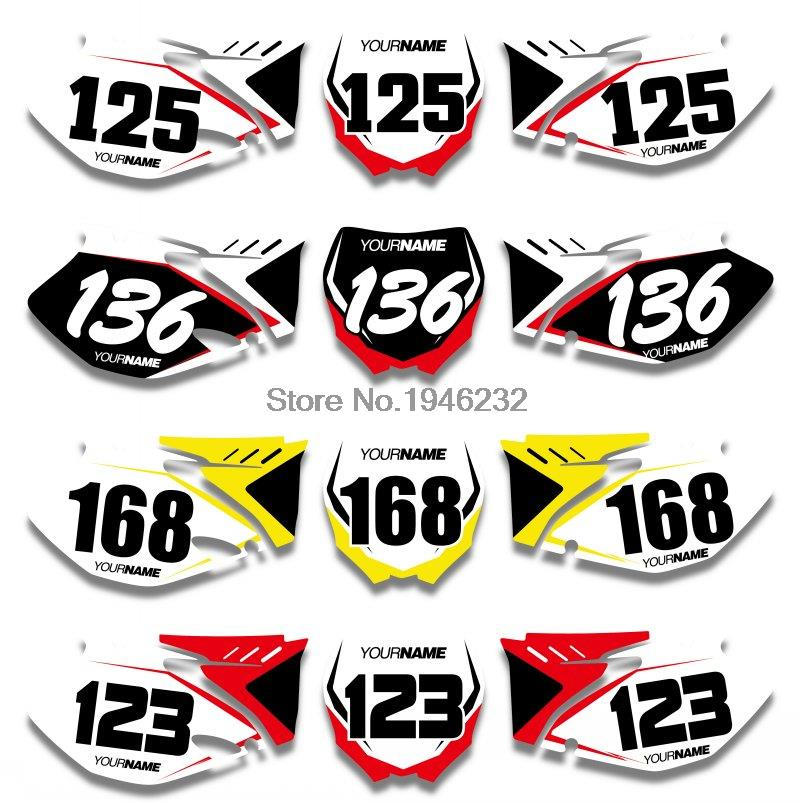 NICECNC Custom Number Plate Background Graphics Sticker & Decal For Yamaha YZ250F YZ450F 2006 2007 2008 2009 YZ 250F 450F
