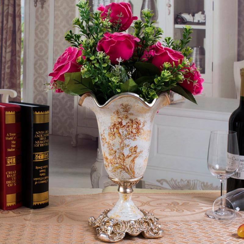 Decoração de casa vaso de mesa do vintage para casa e decoração de casamento ornamentos de mesa vaso falower