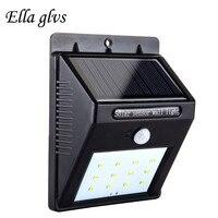 LED Solar Lamp Outdoor Lamp 12LEDs Waterproof PIR Motion Sensor Solar Lamp For Energy Saving Light Garden Decoration