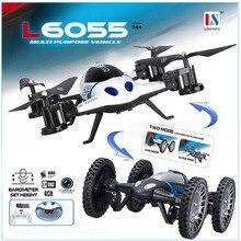 Le plus nouveau Mode de maintien élevé 2 en 1 terre ou ciel RC quadrirotor volant voiture avec 2.0MP caméra Drone télécommande jouets
