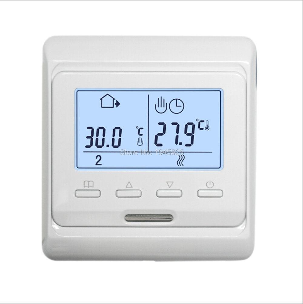 220 ~ 240V AC 50/60Hz 16A LCD programable eléctrico Digital calefacción de suelo habitación termostato de aire controlador de suelo caliente