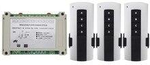 AC220V 380V 4CH 30A 4CH RF interruptor de relé de control remoto inalámbrico receptor puertas de garaje, motor + 3 * transmisor