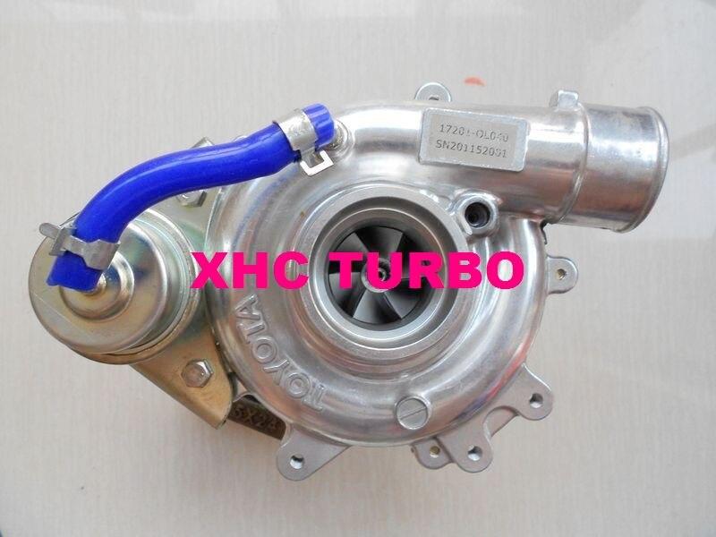 Nuevo turbocompresor CT16 17201-30120 17201-OL030 Turbo para TOYOTA Hiace, hi-lux 2KD-FTV 2.5L 102HP (enfriado por aceite)