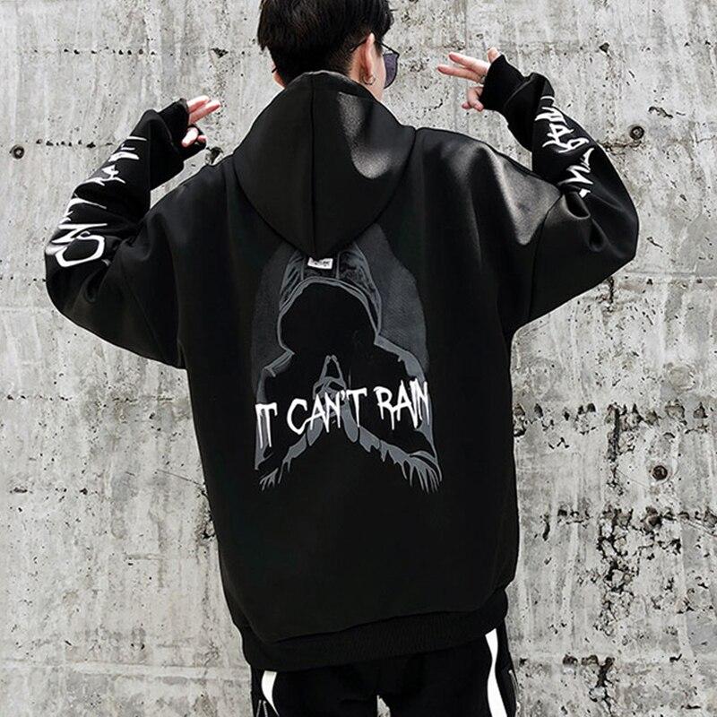 Sudaderas con capucha de manga larga con capucha para hombre, sudaderas de manga larga y hip streetwear unisex con capucha para hombre y mujer talla asiática HD48
