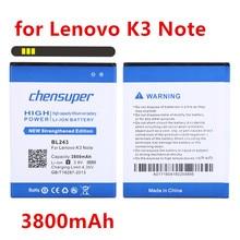 3800 BL243 Lenovo K3 배터리 레몬 K3 K50-T3S K50-T5 A7000 A7600 A5600 A5500 A5860