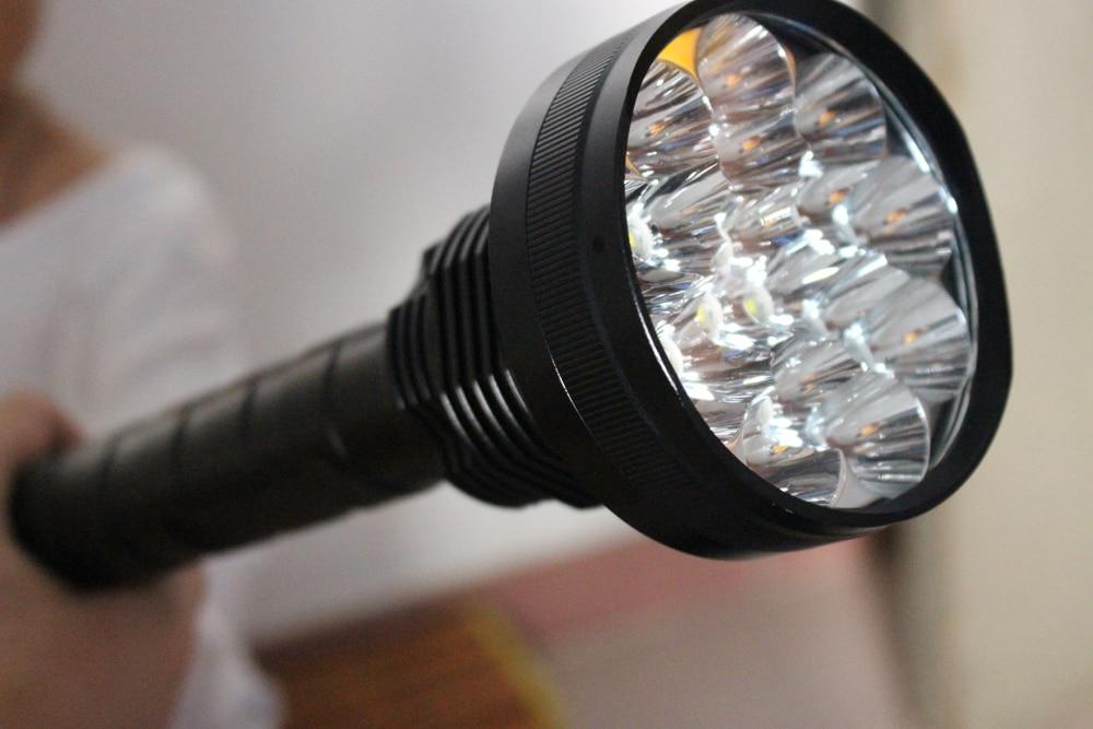 24*XML T6 LED 8000 lumen 18650 26650 exploration torch light flashlight tactical lantern,self defense,camping light, lamp enlarge